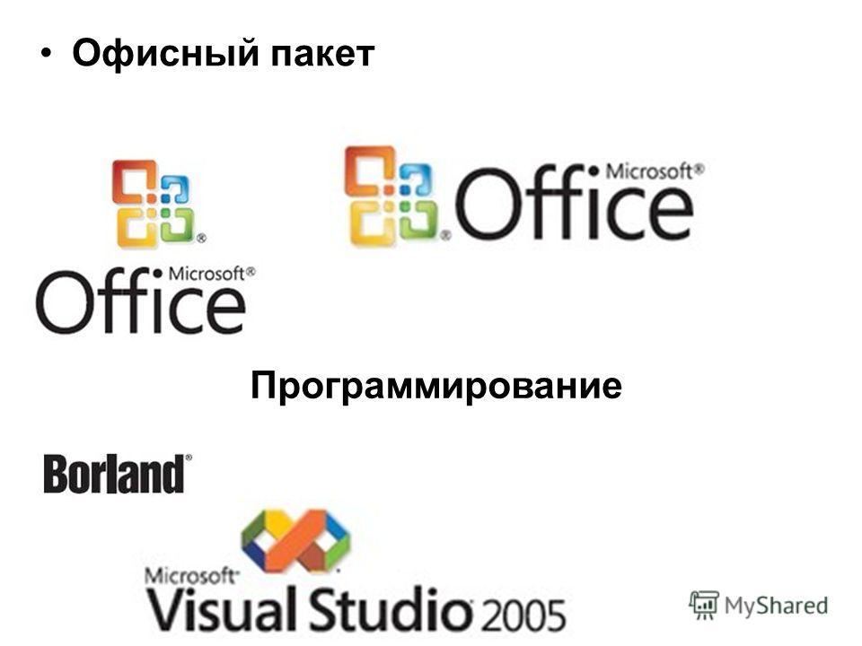 Офисный пакет Программирование