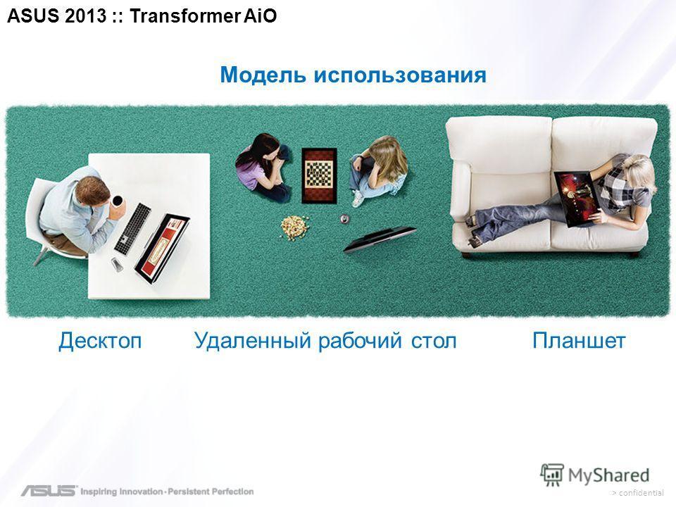 > confidential Модель использования Десктоп Удаленный рабочий стол Планшет ASUS 2013 :: Transformer AiO