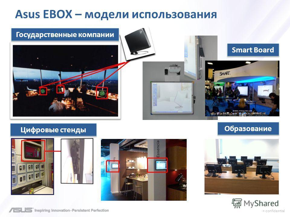 > confidential Государственные компании Цифровые стенды Образование Smart Board Asus EBOX – модели использования