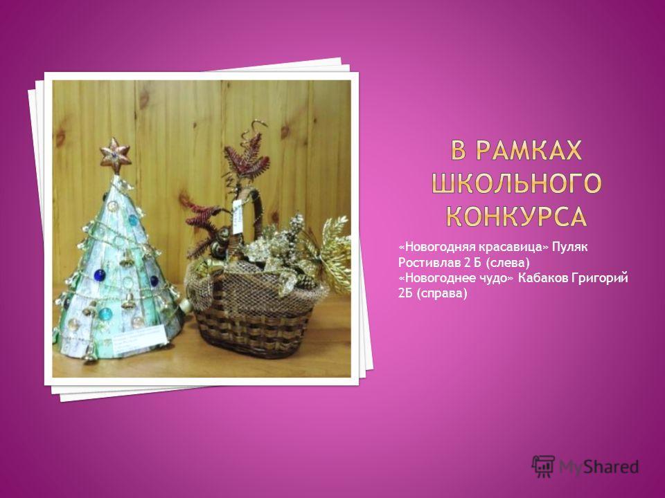 «Новогодняя красавица» Пуляк Ростивлав 2 Б (слева) «Новогоднее чудо» Кабаков Григорий 2Б (справа)