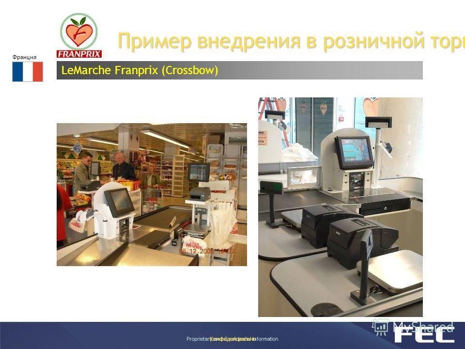 Конфиденциально Пример внедрения в розничной торговле LeMarche Franprix (Crossbow) Франция
