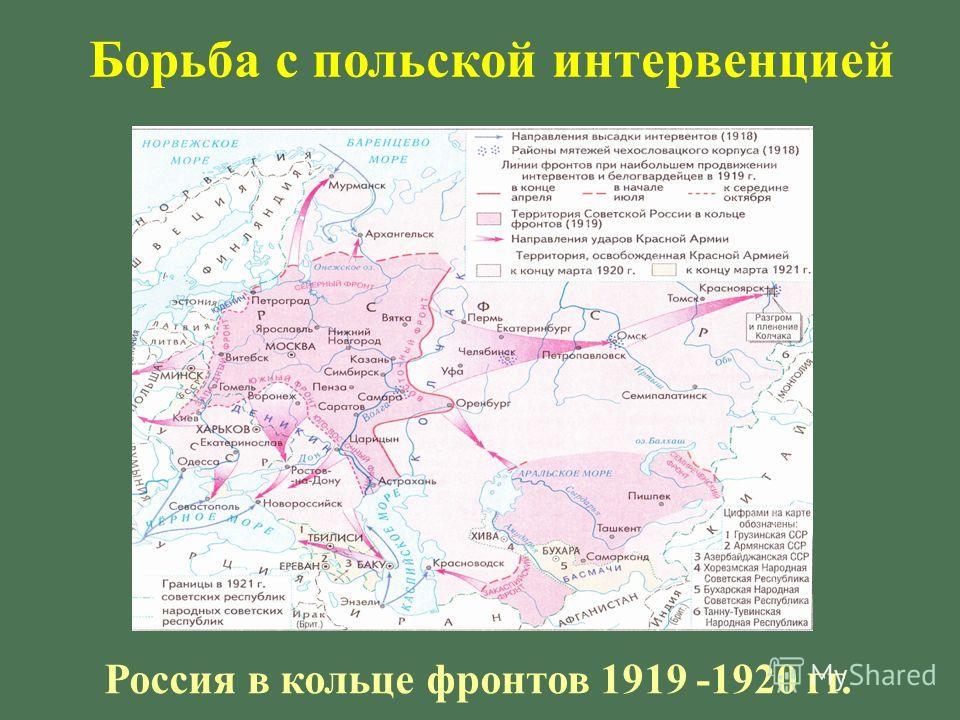Россия в кольце фронтов 1919 -1920 гг. Борьба с польской интервенцией
