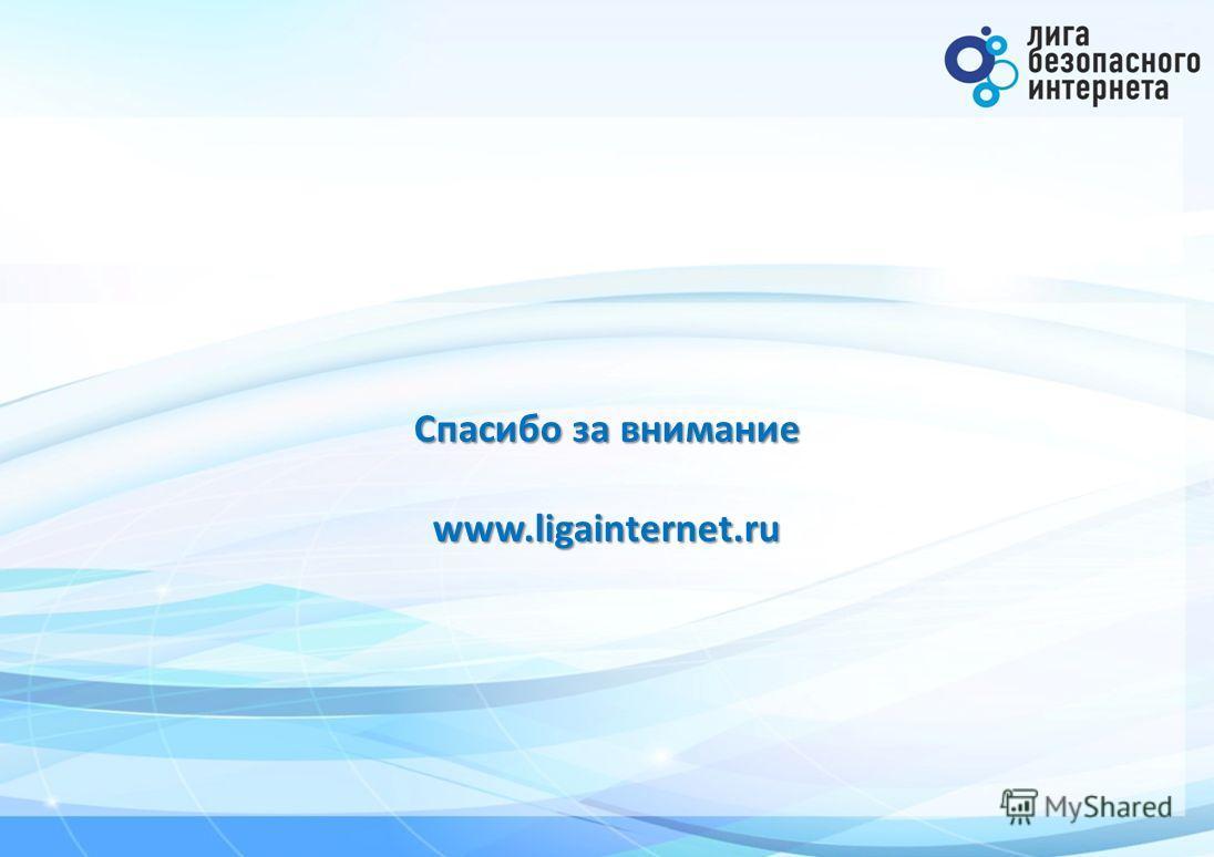 Спасибо за внимание www.ligainternet.ru