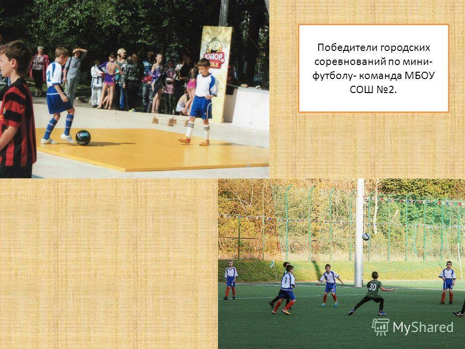 Победители городских соревнований по мини- футболу- команда МБОУ СОШ 2.
