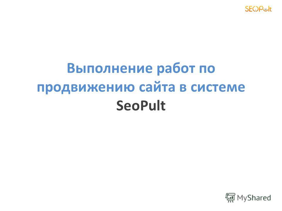 Выполнение работ по продвижению сайта в системе SeoPult