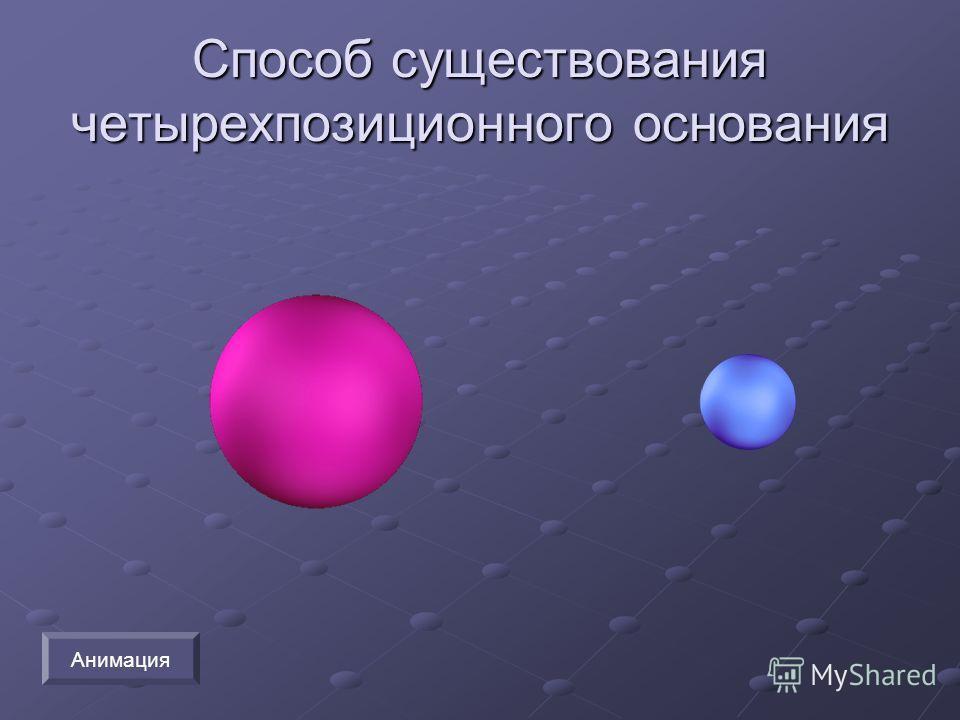 Способ существования четырехпозиционного основания Анимация