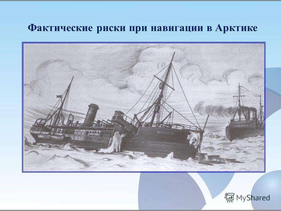 Фактические риски при навигации в Арктике