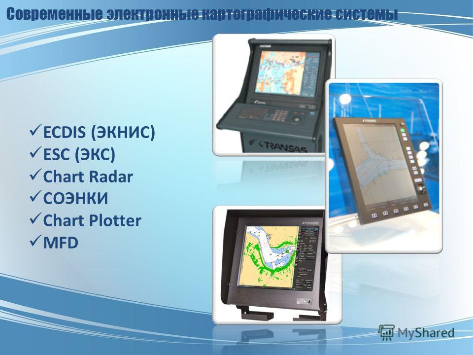 Современные электронные картографические системы ECDIS (ЭКНИС) ESC (ЭКС) Chart Radar СОЭНКИ Chart Plotter MFD