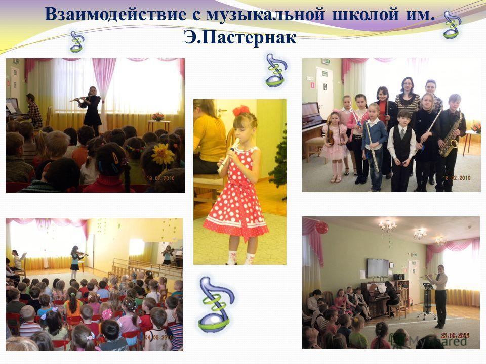 Взаимодействие с музыкальной школой им. Э.Пастернак