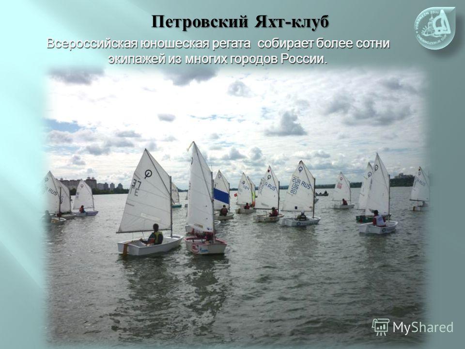Петровский Яхт-клуб Всероссийская юношеская регата собирает более сотни экипажей из многих городов России.