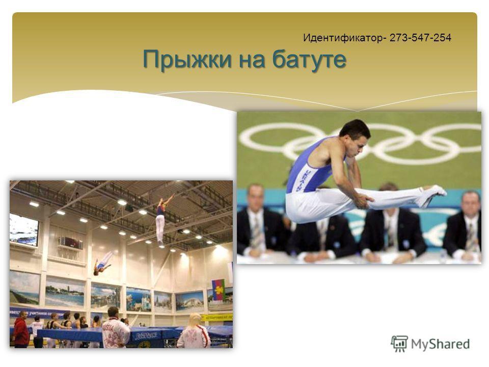Прыжки на батуте Идентификатор- 273-547-254 Прыжки на батуте