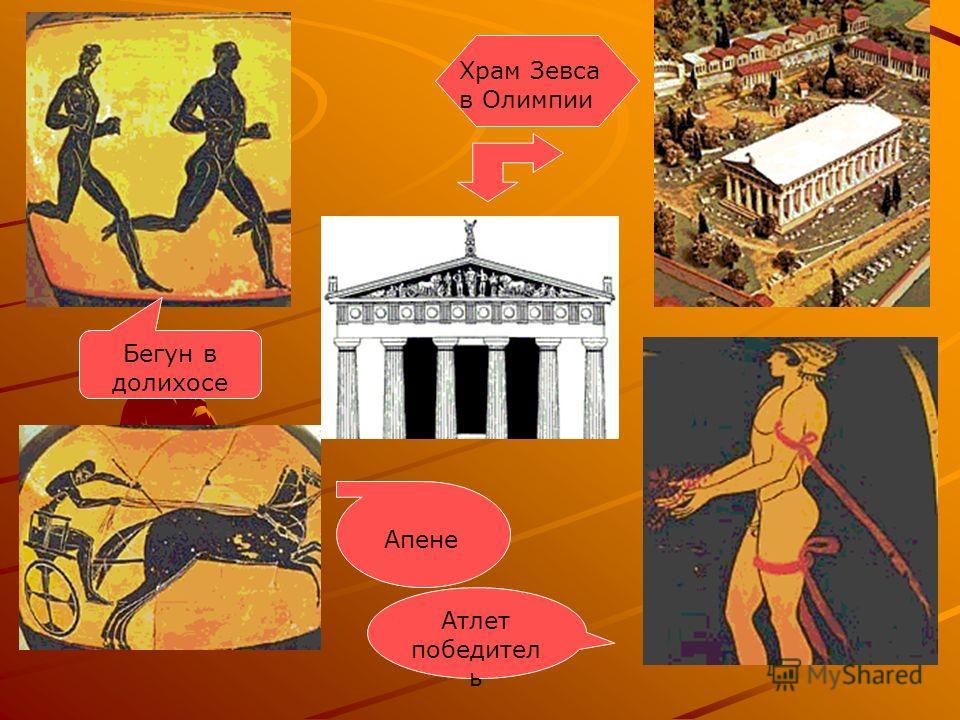 Храм Зевса в Олимпии Апене Атлет победител ь Бегун в долихосе