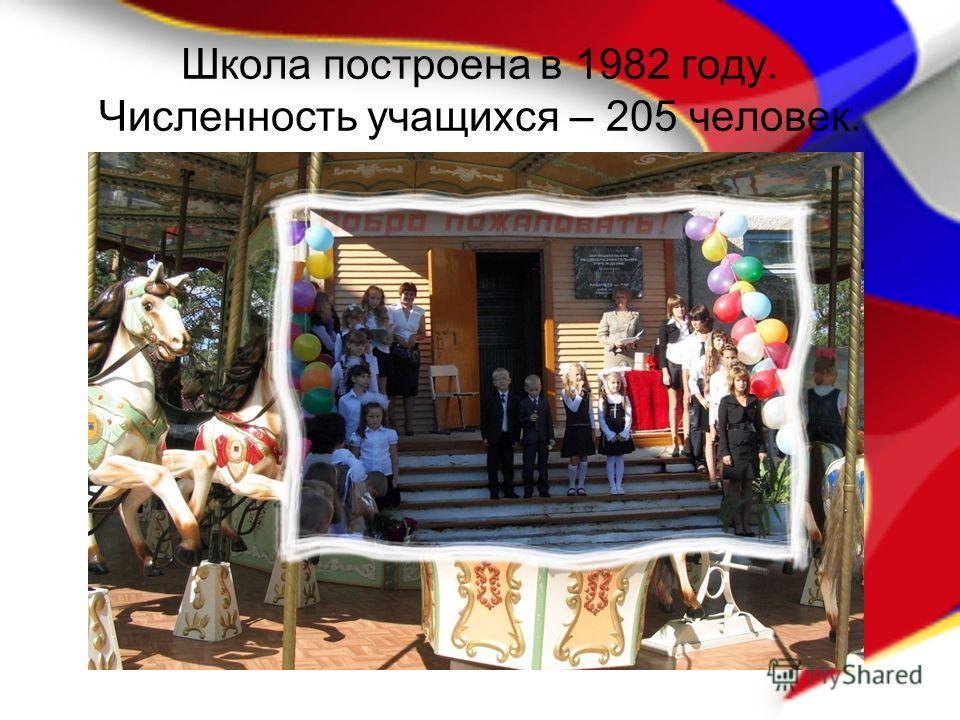 Школа построена в 1982 году. Численность учащихся – 205 человек.