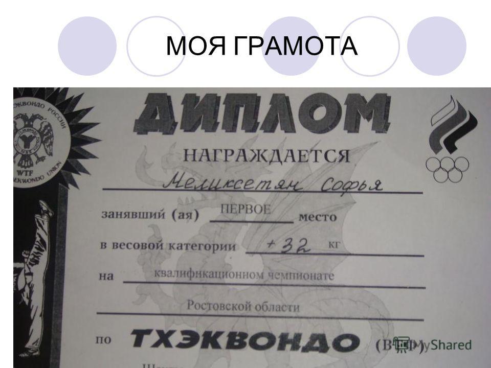 МОЯ ГРАМОТА