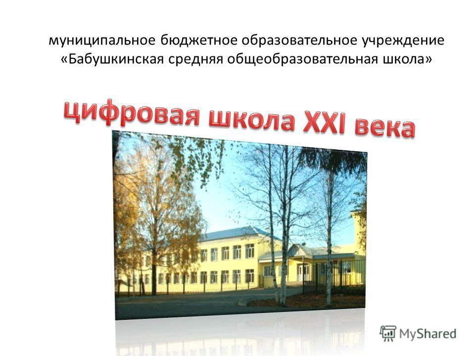 муниципальное бюджетное образовательное учреждение «Бабушкинская средняя общеобразовательная школа»