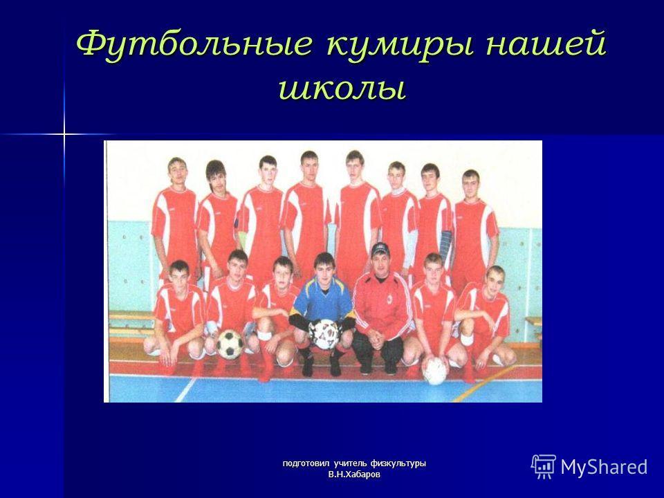 подготовил учитель физкультуры В.Н.Хабаров Футбольные кумиры нашей школы