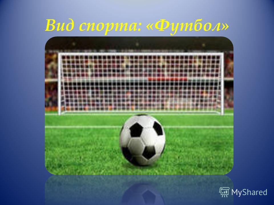 Вид спорта: «Футбол»