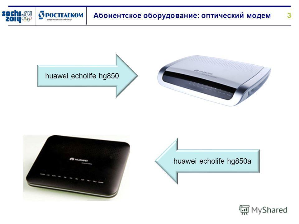 3 Абонентское оборудование: оптический модем huawei echolife hg850 huawei echolife hg850a