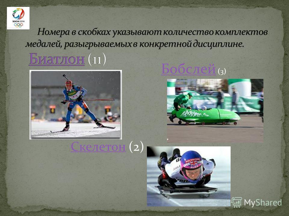 Бобслей Бобслей (3) СкелетонСкелетон (2)