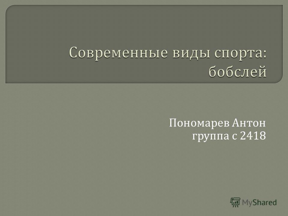 Пономарев Антон группа с 2418