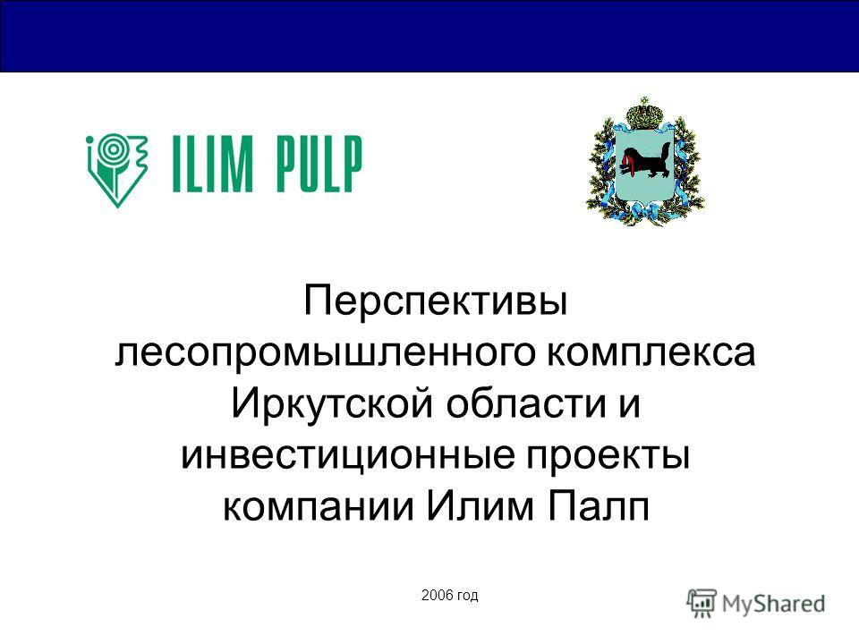 2006 год Перспективы лесопромышленного комплекса Иркутской области и инвестиционные проекты компании Илим Палп