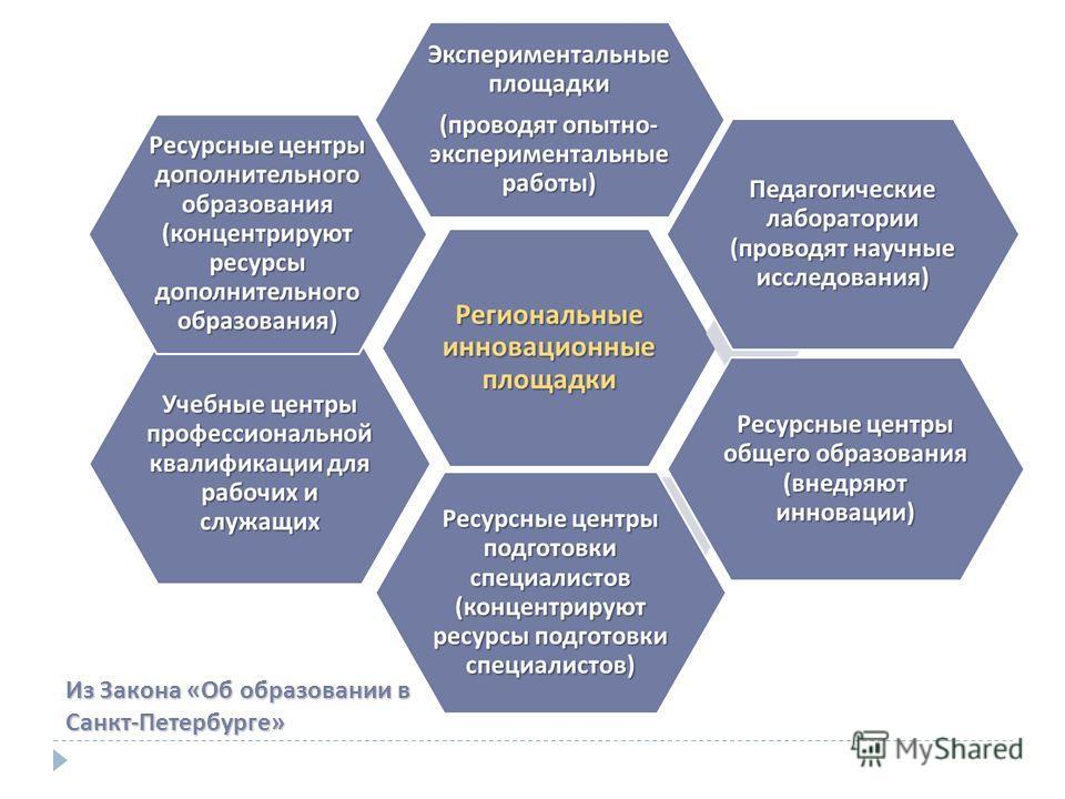 Из Закона «Об образовании в Санкт-Петербурге»