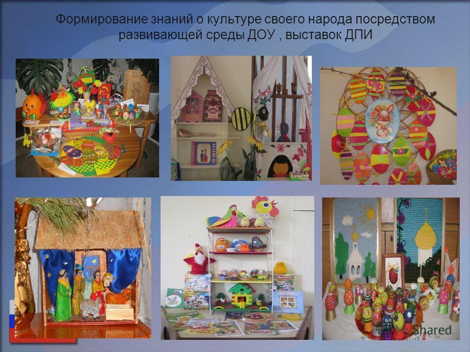 Формирование знаний о культуре своего народа посредством развивающей среды ДОУ, выставок ДПИ