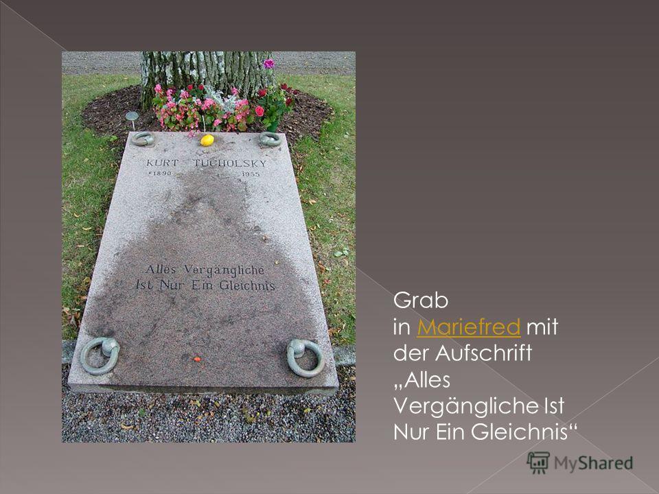 Grab in Mariefred mit der Aufschrift Alles Vergängliche Ist Nur Ein GleichnisMariefred