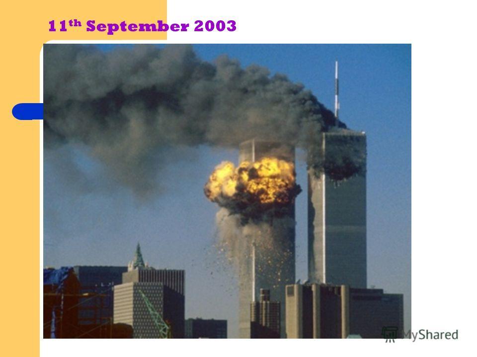 11 th September 2003