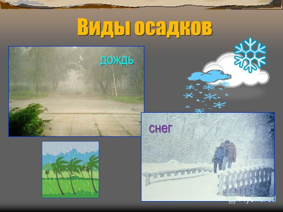 Виды осадков дождь снег