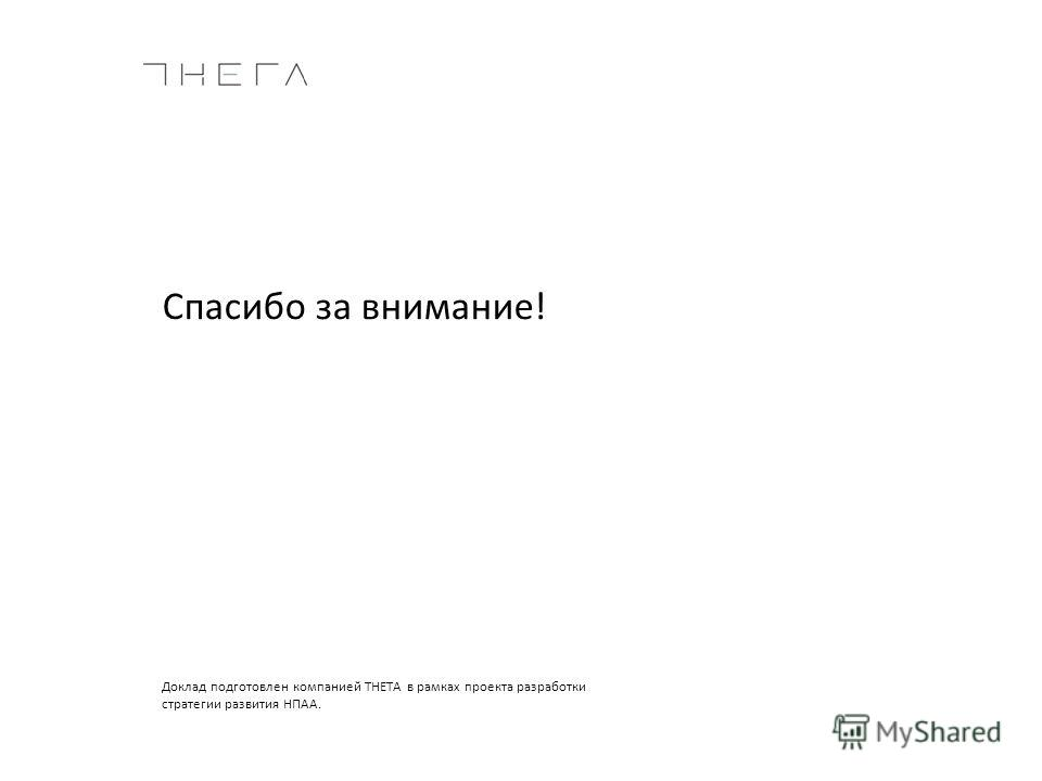 Доклад подготовлен компанией THETA в рамках проекта разработки стратегии развития НПАА. Спасибо за внимание!