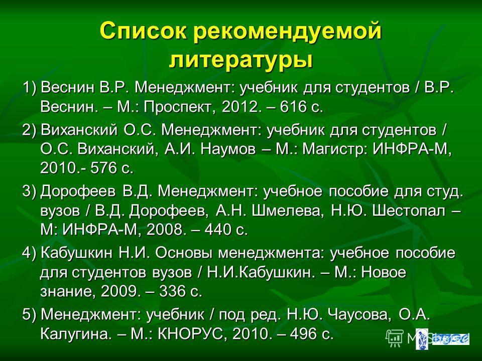 Веснин В.Р. Основы Менеджмента