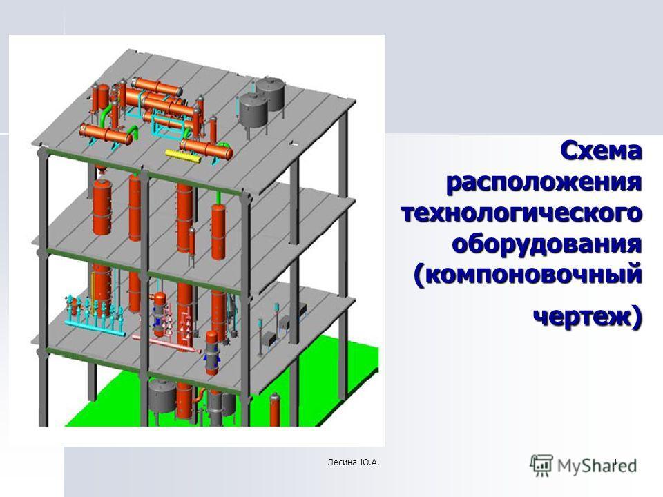 1 Схема расположения технологического оборудования (компоновочный чертеж) Лесина Ю.А.