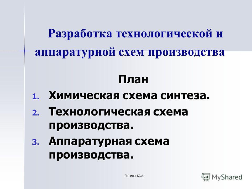 Химическая схема синтеза. 2.