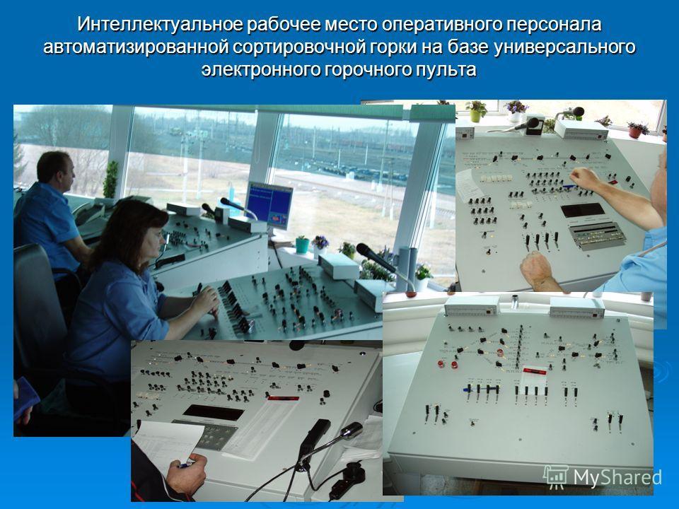 Интеллектуальное рабочее место оперативного персонала автоматизированной сортировочной горки на базе универсального электронного горочного пульта