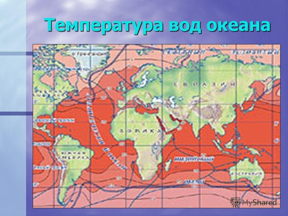 Температура вод океана
