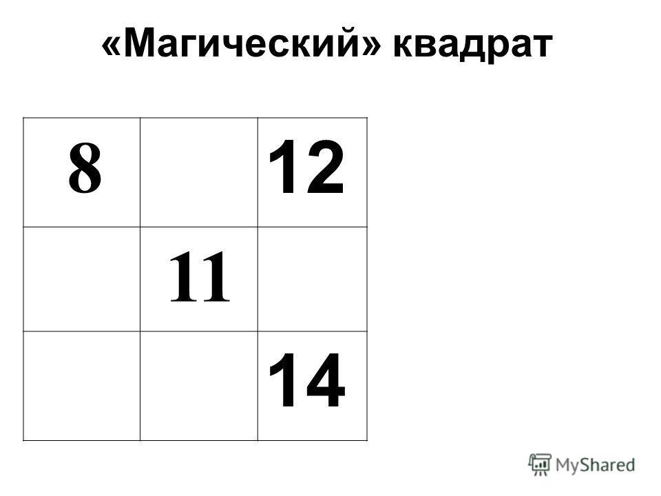 «Магический» квадрат 8 12 11 14
