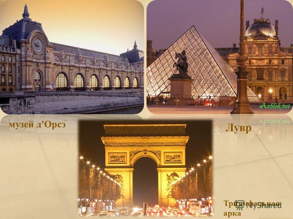музей д'Орсэ Лувр Триумфальная арка