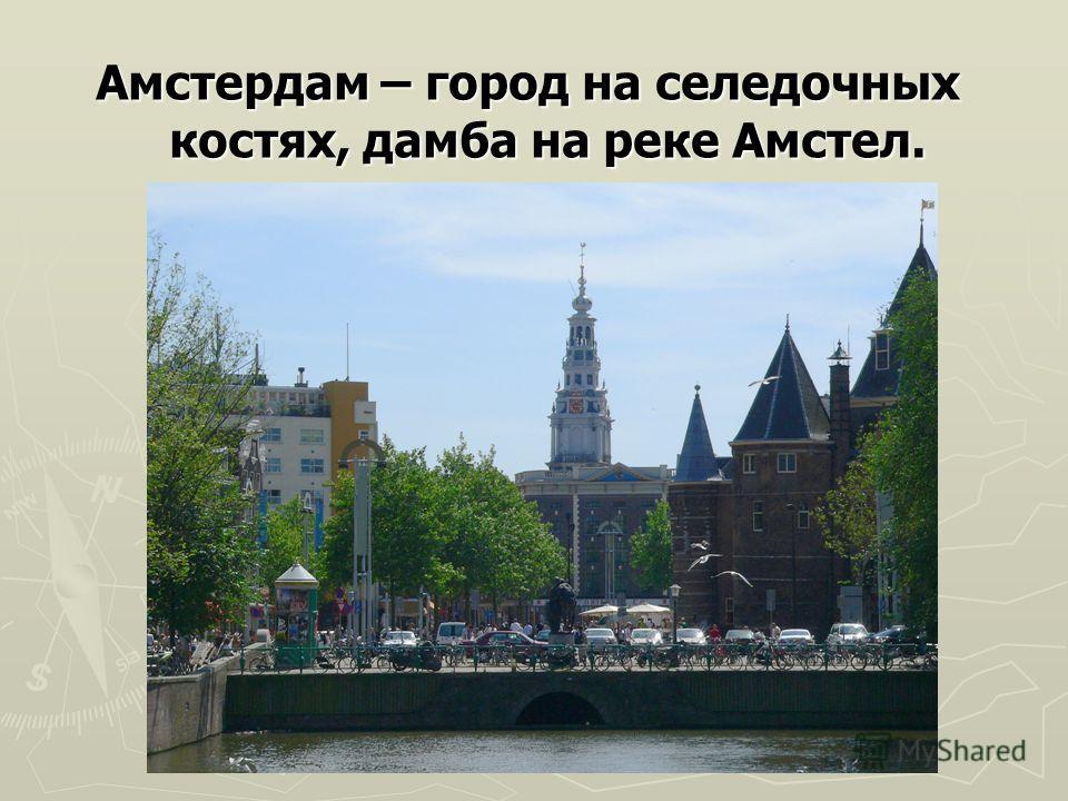 Амстердам – город на селедочных костях, дамба на реке Амстел.