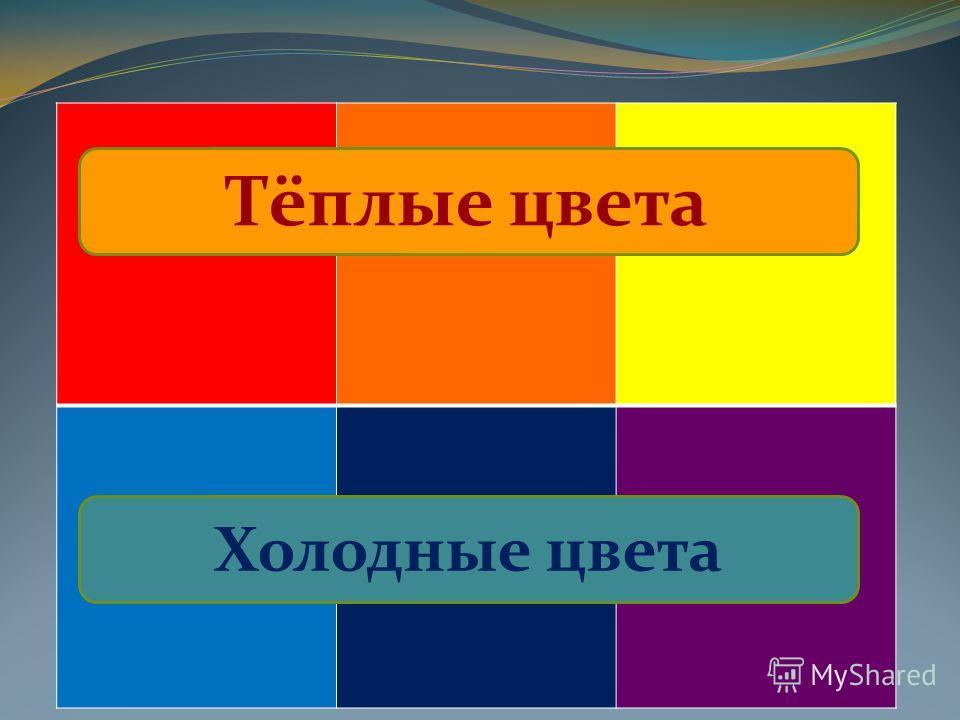 Тёплые цвета Холодные цвета