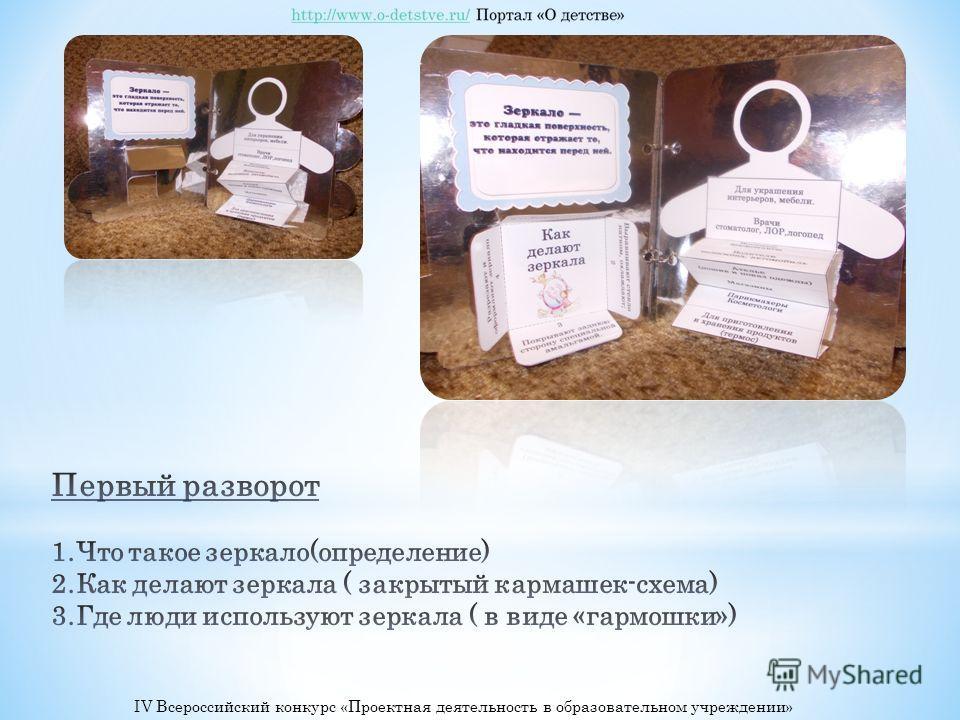 IV Всероссийский конкурс «Проектная деятельность в образовательном учреждении»