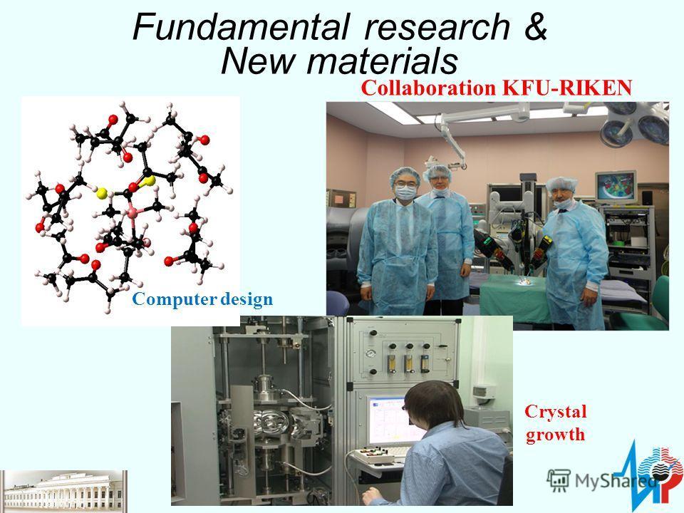 Fundamental research & New materials Computer design Crystal growth Collaboration KFU-RIKEN