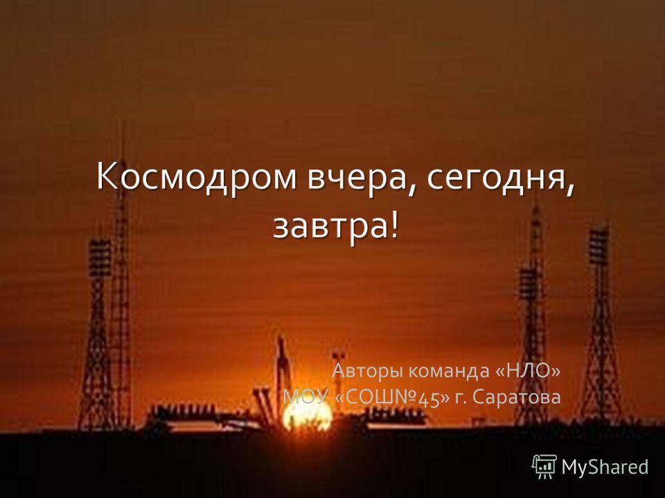 Авторы команда «НЛО» МОУ «СОШ45» г. Саратова