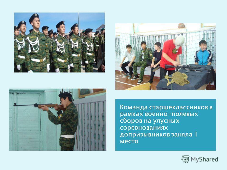 Команда старшеклассников в рамках военно-полевых сборов на улусных соревнованиях допризывников заняла 1 место
