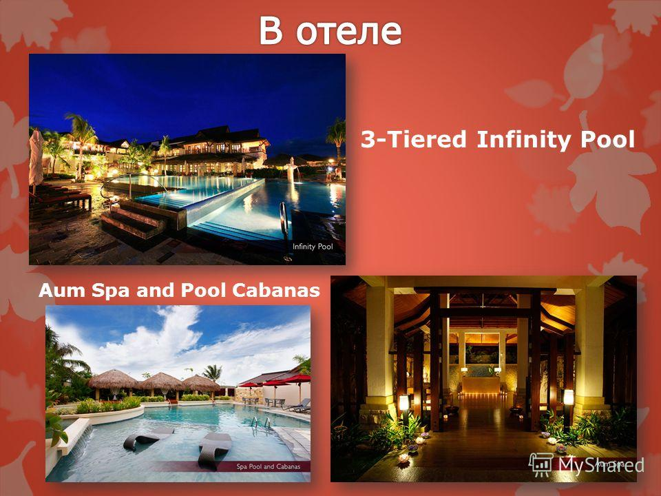 3-Tiered Infinity Pool Aum Spa and Pool Cabanas