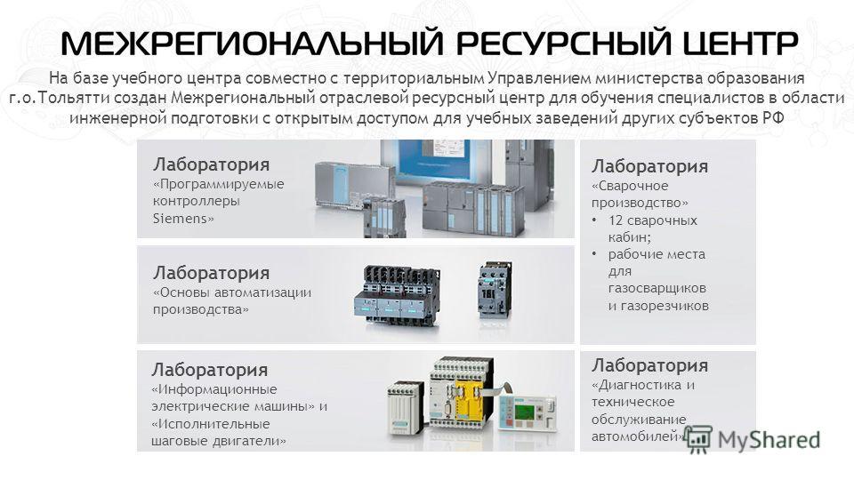 На базе учебного центра совместно с территориальным Управлением министерства образования г.о.Тольятти создан Межрегиональный отраслевой ресурсный центр для обучения специалистов в области инженерной подготовки с открытым доступом для учебных заведени