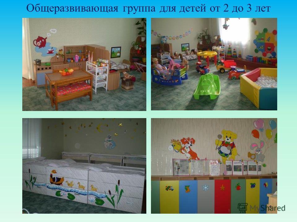Общеразвивающая группа для детей от 2 до 3 лет 5