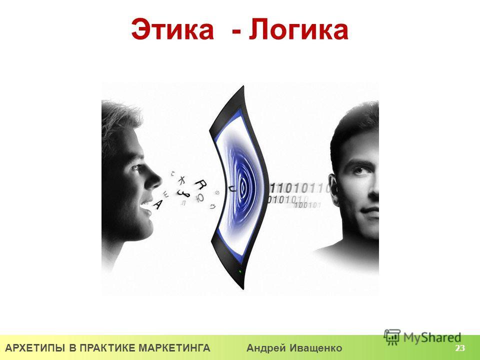 АРХЕТИПЫ В ПРАКТИКЕ МАРКЕТИНГА Андрей Иващенко 23 Этика - Логика