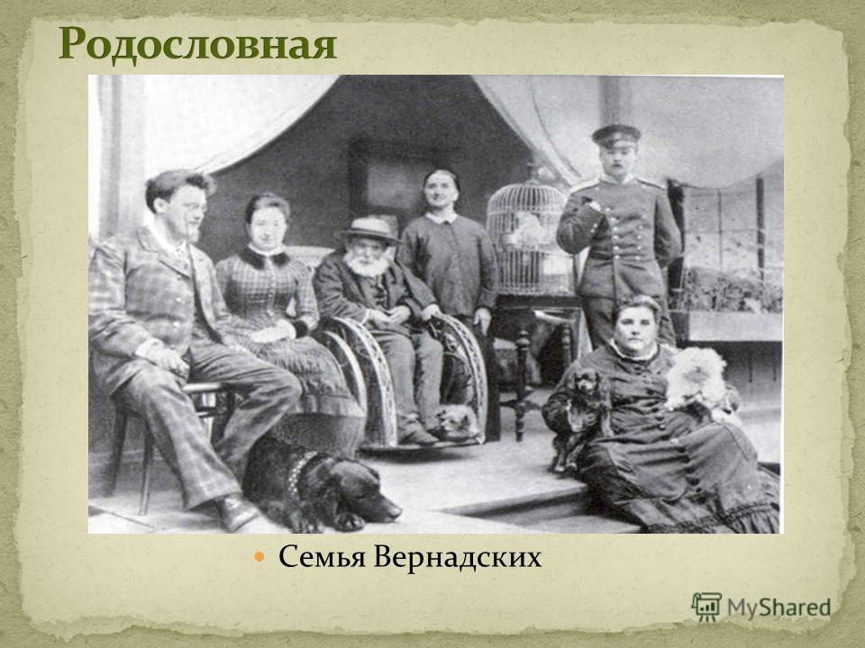 Семья Вернадских