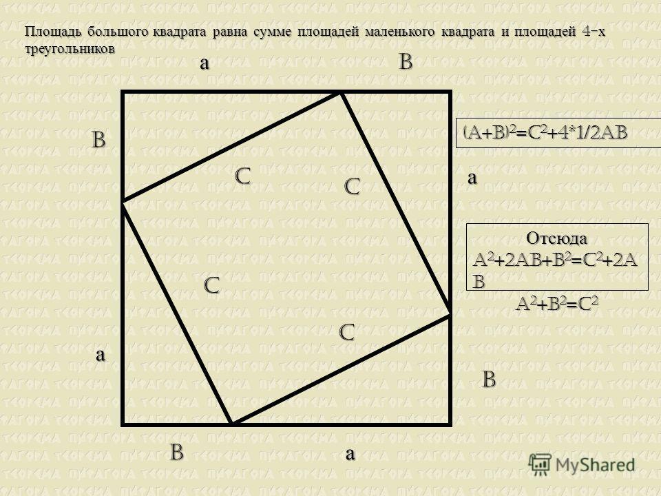 а c b а а а b b b c c c Площадь этого треугольника 1/2 а b
